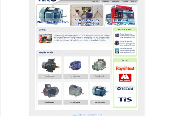 Phân phối Motor Teco tại Bình Dương