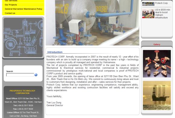 Protech Corp. – Nhà thi công cơ điện