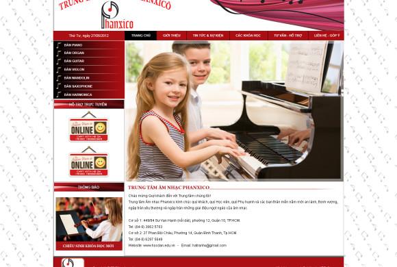 Website Trung tâm nhạc Phanxico